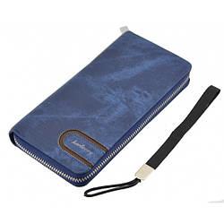 Мужской кошелек клатч портмоне барсетка Baellerry S1514 business Синий