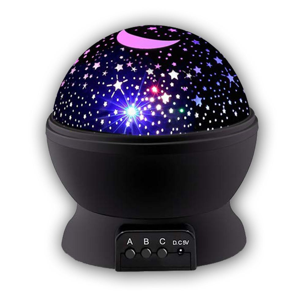 Проектор - ночник BoxShop Звёздное небо чёрный (ZN-2319)