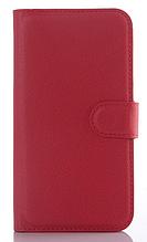 Кожаный чехол-книжка для Samsung Galaxy J5 J500 (2015) красный
