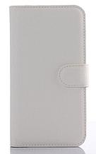Кожаный чехол-книжка для Samsung Galaxy J5 J500 (2015) белый