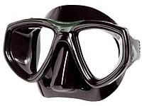 Маска для плавания Seac Sub One; чёрно-зелёная