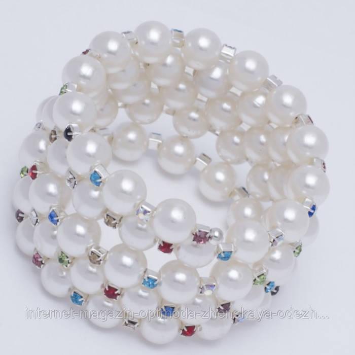 Браслет накрутка з штучним перлами