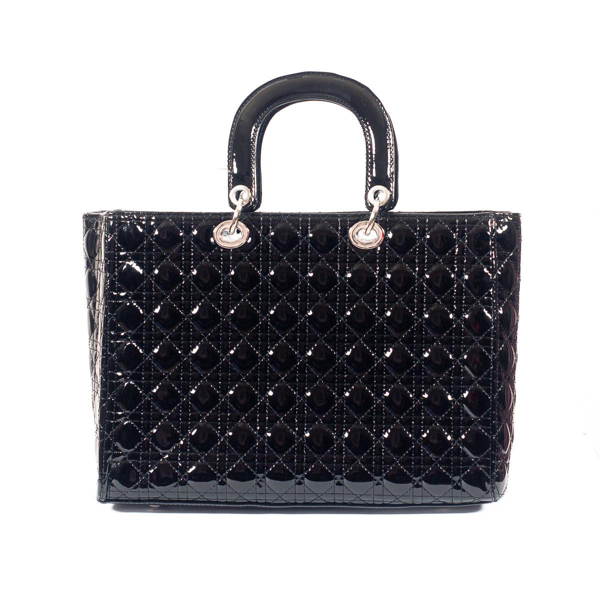 Сумка женская черная Dior стеганая 7235