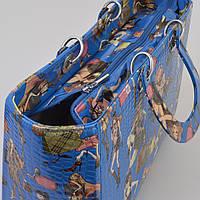 Сумка женская синяя девчата 14774, фото 1