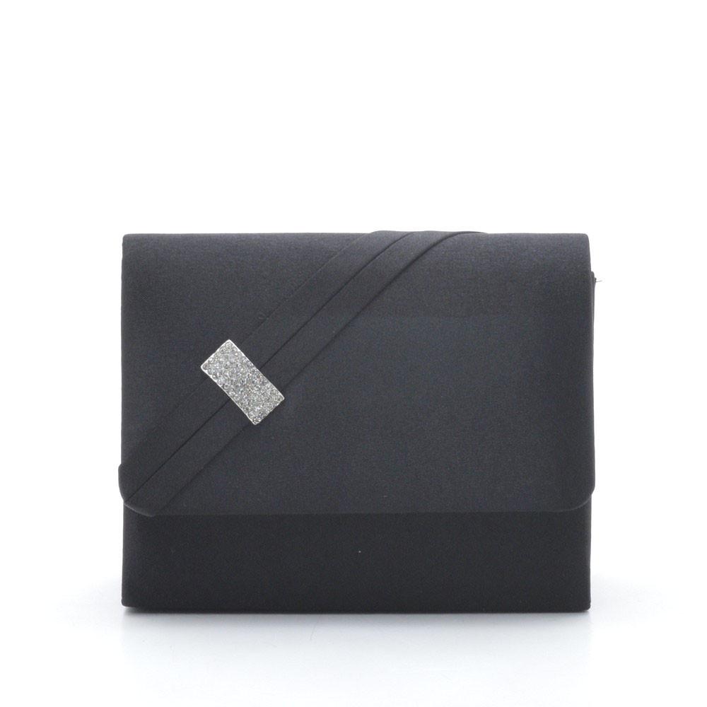 Вечерний женский клатч черный квадратный 87392