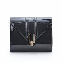 Женский клатч черный лакированный квадратный 88172, фото 1
