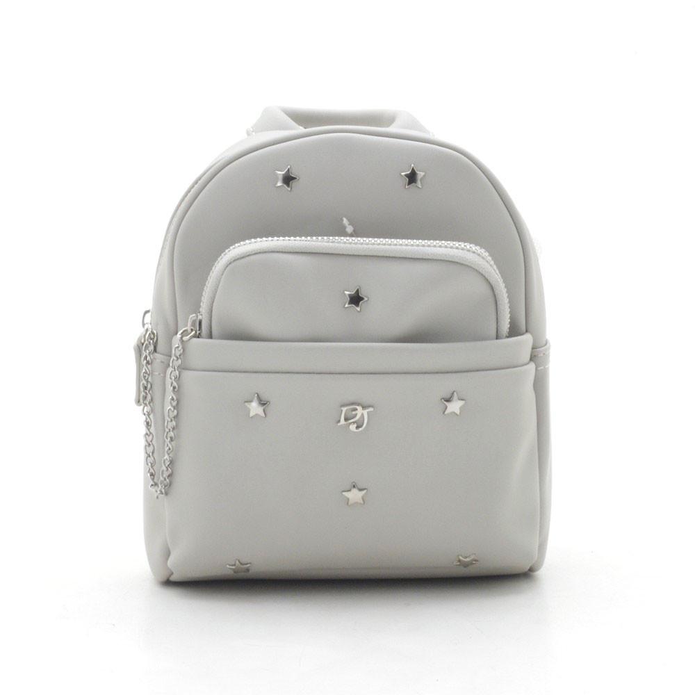 Рюкзак женский 2в1 мини David Jones светло серый 120757