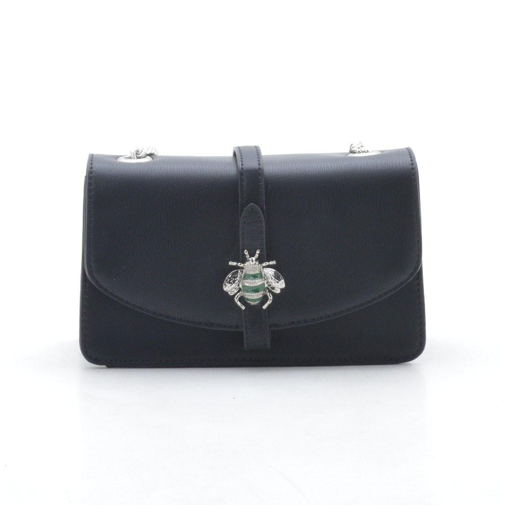 Женский клатч черный David Jones (держит форму) 122844