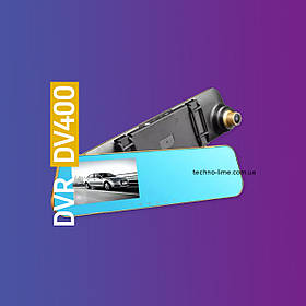 DVR DV-400. Видеорегистратор HD 1080 + зеркало заднего вида, регистратор, 2019