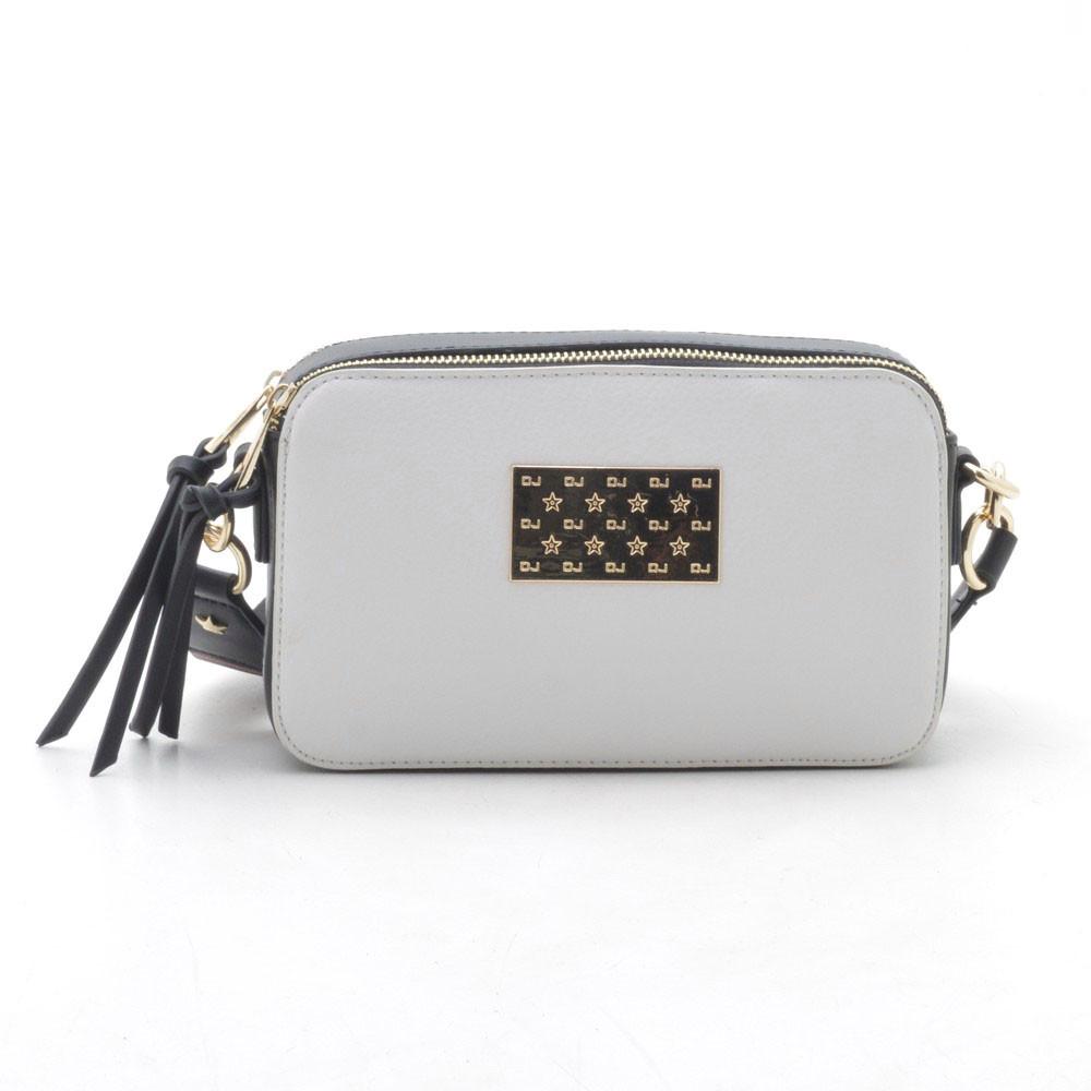 Клатч David Jones 5543-1 creamy grey/black (серый/черный)