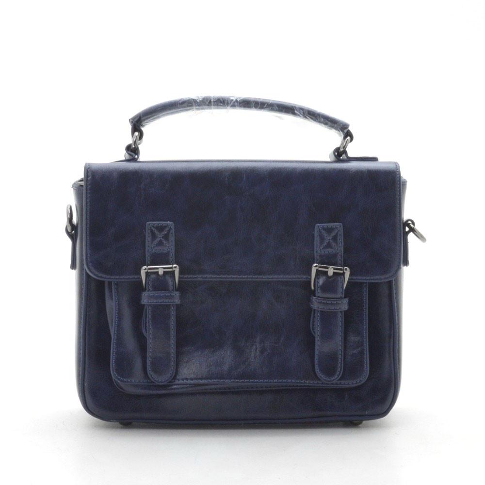 Женский клатч сумка синий глянец 146644