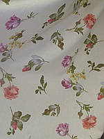 Ткань в стиле прованс, рисунок разные мелкие цветы, на молочном фоне