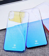 Чехол для Apple iPhone X Glitter Blue Baseus