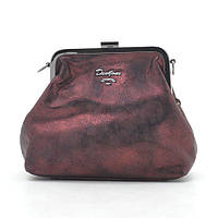 Женский клатч David Jones темно красный с сскусственной замши 163454