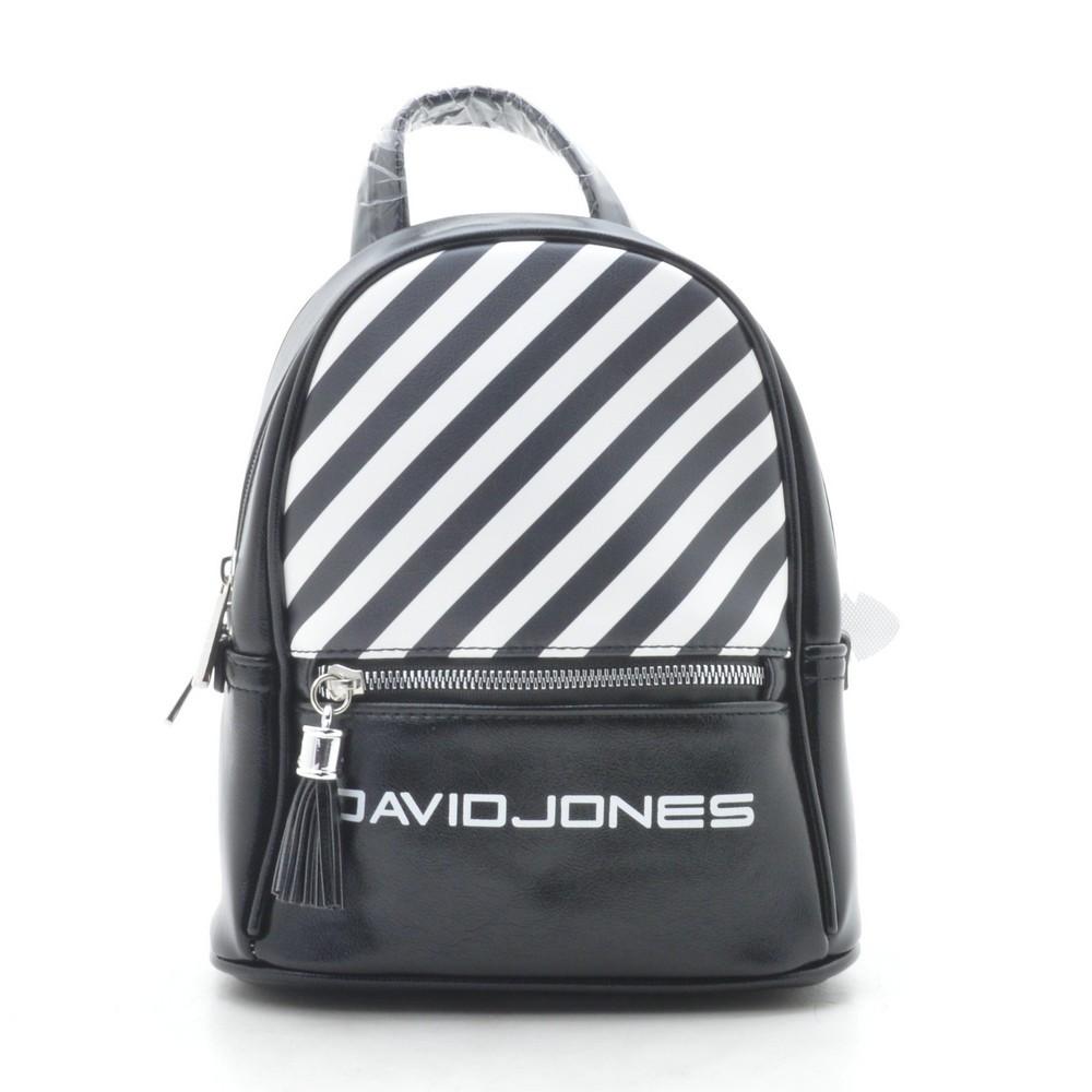 Рюкзак David Jones black 🎀 Дэвид Джонс черный в полоску