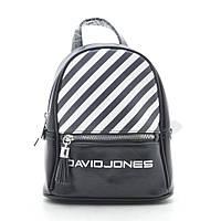 Рюкзак David Jones black 🎀 Дэвид Джонс черный в полоску, фото 1