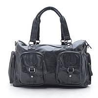 Дорожная сумка черная, кожзам 167582, фото 1