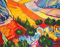 Рисуем по номерам Пейзаж Ван Гог Винсент (RS-N000131) 45х35 см