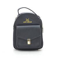Женский клатч-рюкзак черный Love Dream 170606, фото 1