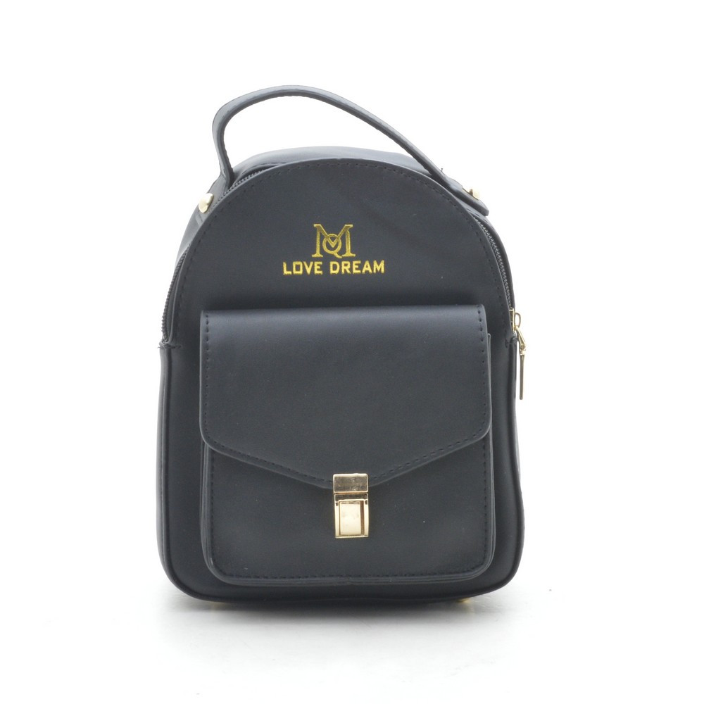 Женский клатч-рюкзак черный Love Dream 170606