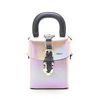 Женский клатч светло розовый сундучок 172102, фото 1