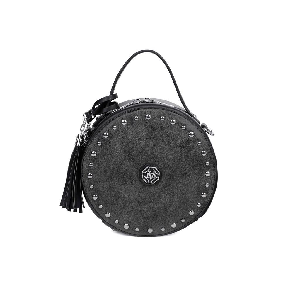 Жіночий клатч чорний круглий 173555