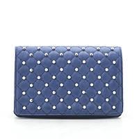 Женский клатч синий стеганый 173588, фото 1