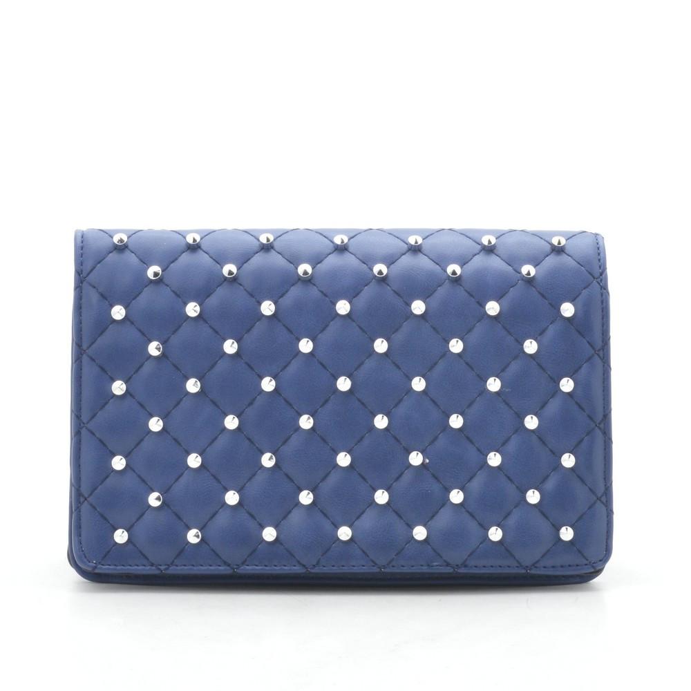 Женский клатч синий стеганый 173588