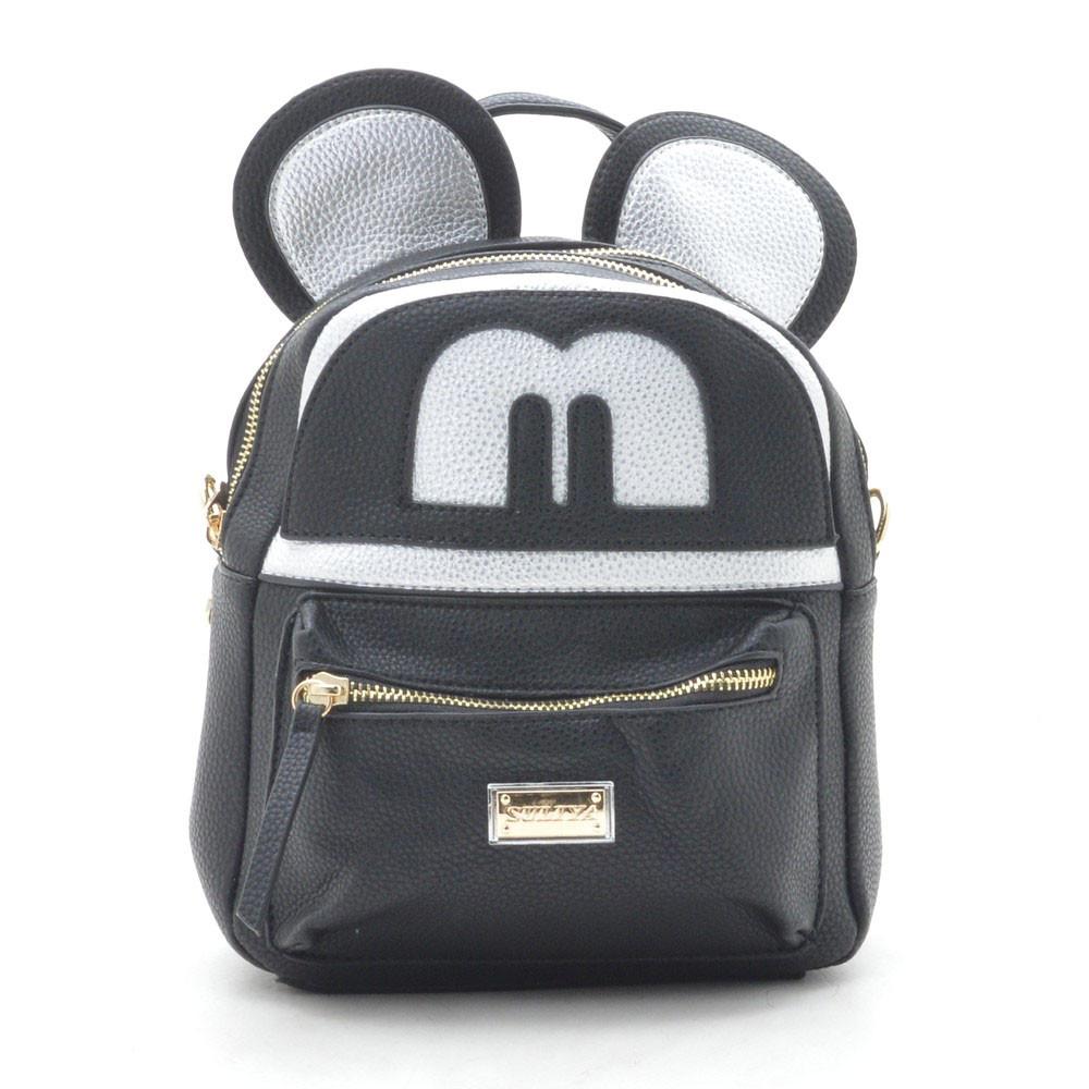 Рюкзак женский черный с ушками 175304