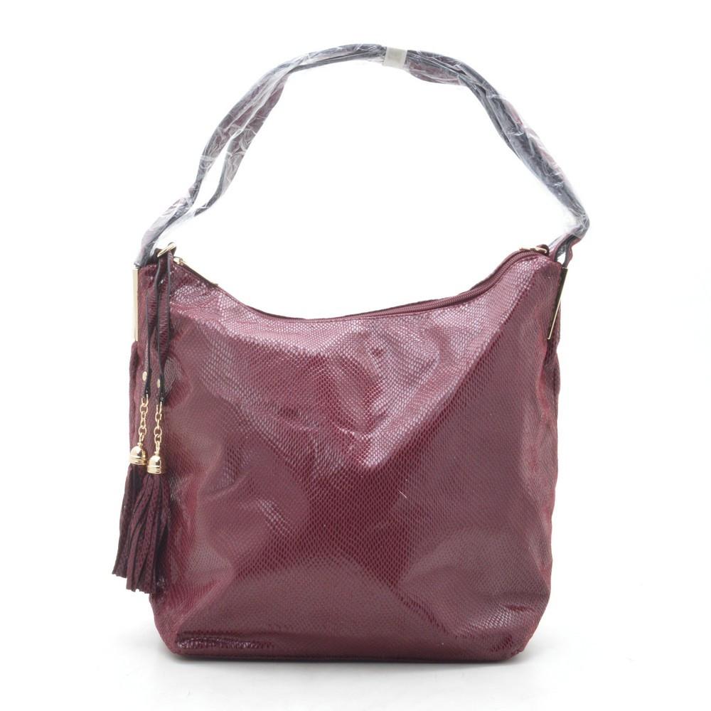 Сумка женская темно красная (сумка-мешок) 175488