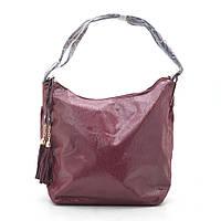 Сумка женская темно красная (сумка-мешок) 175488, фото 1