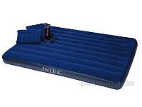 Надувной матрас Intex 68765 с двумя подушками и насосом