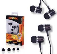 Гарнитура наушники для мобильного телефона Samsung D880, c5212, s5230, e210, s3600 sertec нейлон черная