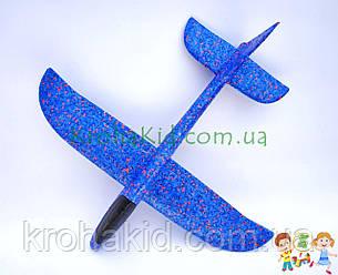 Літак планер метальний Explosion C33806 (великий розмах крил 49 см) Синій, фото 2