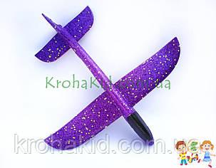 Самолёт планер метательный Explosion C33806 (большой размах крыльев 49 см) Фиолетовый, фото 2