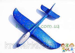 Самолёт планер метательный Explosion Y8551-49 светящийся (большой размах крыльев 49 см) Синий, фото 2