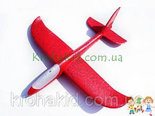 Самолёт планер метательный Explosion Y8551-49 светящийся (большой размах крыльев 49 см) Красный, фото 2