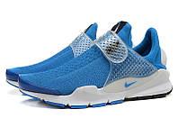 Летние мужские кроссовки Nike Sock Dart SP blue, фото 1
