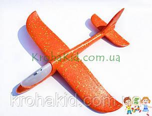 Самолёт планер метательный Explosion Y8551-49 светящийся (большой размах крыльев 49 см) Оранжевый, фото 2