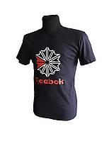 Мужская футболка хлопковая, спортивная Reebok, летняя, синяя