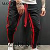 Штаны мужские спортивные Цвета красный, черный, меланж. Размеры S (44-46), фото 2
