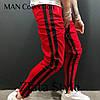 Штаны мужские спортивные Цвета красный, черный, меланж. Размеры S (44-46), фото 5