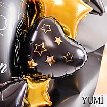 """Букет для мужчины с бутылкой виски и звездой """"Happy Birthday"""", фото 2"""