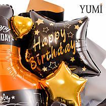 """Букет для мужчины с бутылкой виски и звездой """"Happy Birthday"""", фото 3"""