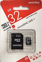 Карта памяти Smartbuy micro SDHC 32 GB Class 10 +адаптер