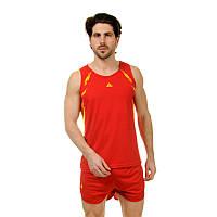 Форма для легкой атлетики мужская (красный-желтый)