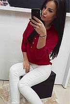 Женская блузка на пуговицах шифоновая, фото 2