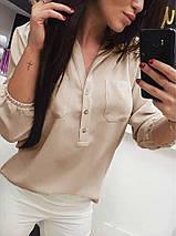 Женская блузка на пуговицах шифоновая, фото 3