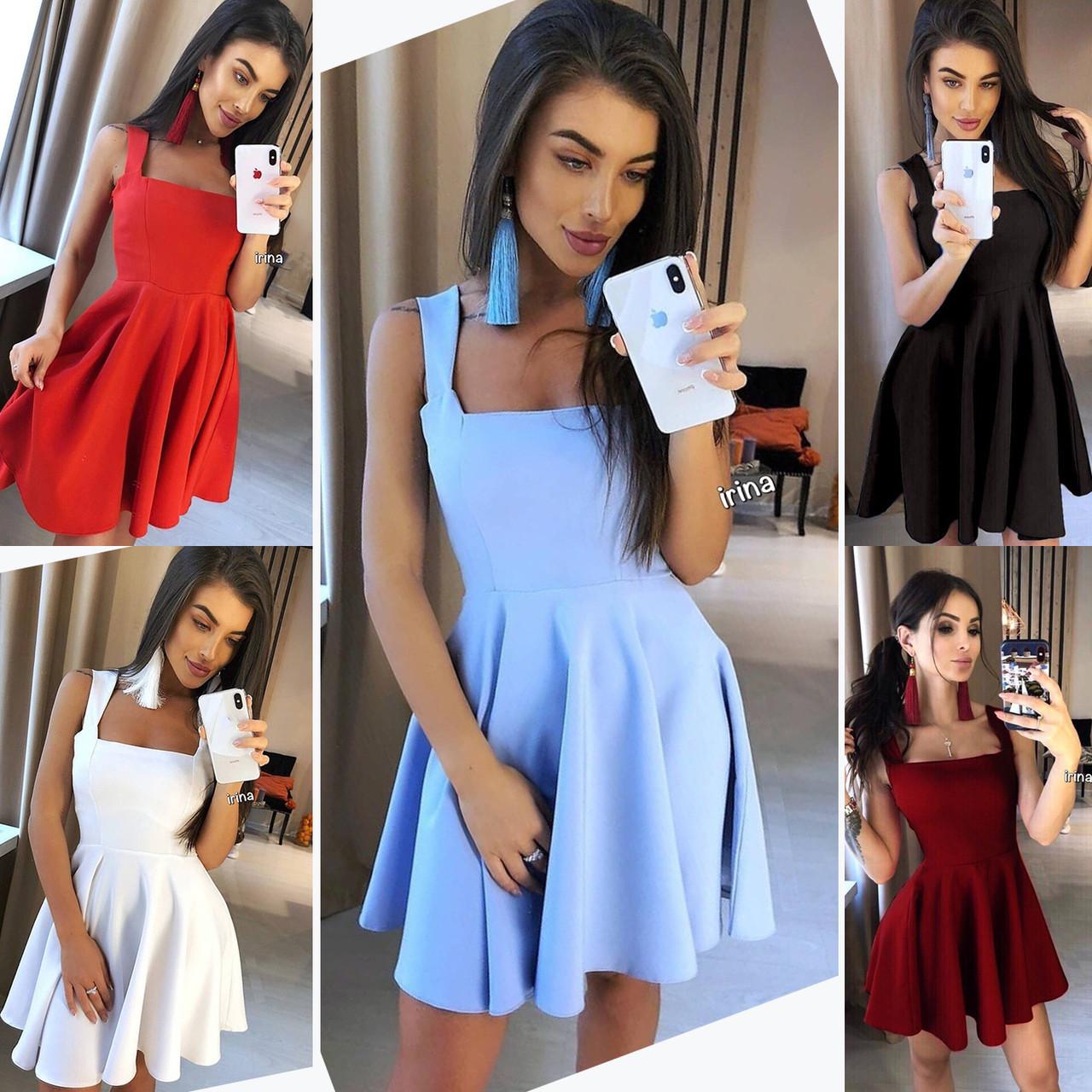 c466816ef67 Летнее женское платье красное черное голубое бордо белое - VikiShop.prom.ua  в Одессе