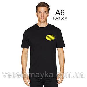 Печать на футболке в 1 цвет (флекс)